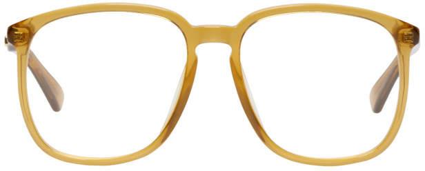 Gucci Orange Transparent Glasses