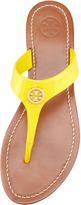 Tory Burch Cameron Patent Logo Thong Sandal, Daisy Yellow
