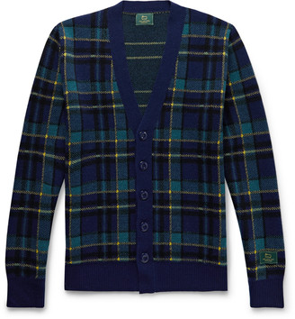 Woolrich + Checked Wool Cardigan