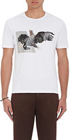 Neil Barrett Men's Horse-Eagle-Hybrid Cotton T-Shirt-WHITE