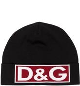 Dolce & Gabbana black, red and white logo wool hat