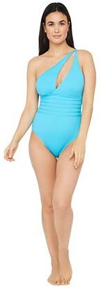 La Blanca Island Goddess One Shoulder Cutout One-Piece Swimsuit (Poolside) Women's Swimsuits One Piece