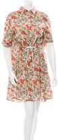 Sonia Rykiel Floral Print Tie-Front Dress w/ Tags