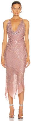 Cushnie Sleeveless Cowl Neck Dress in Dusty Rose | FWRD
