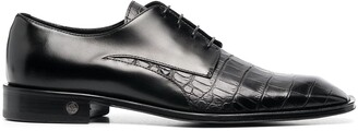 Roberto Cavalli Crocodile-Effect Lace-Up Shoes