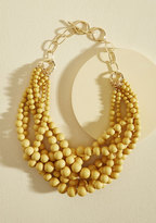 ModCloth Burst Your Bauble Necklace in Mustard