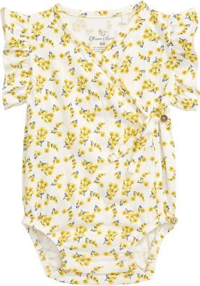 Oliver & Rain Floral Flutter Sleeve Romper