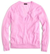 J.Crew Women's V-Neck Italian Featherweight Cashmere Sweater