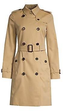 Burberry Women's Kensington Long Heritage Trench Coat - Size 0