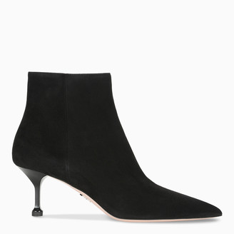 Prada Black pointed ankle boots