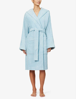 Tekla Hooded organic-cotton towelling robe