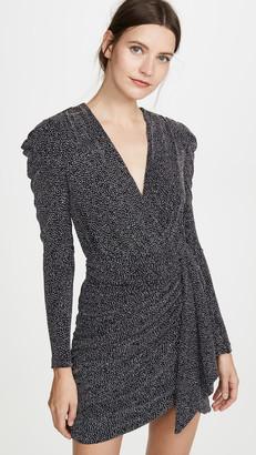 Jonathan Simkhai Glitter Jersey Deep V Mini Dress
