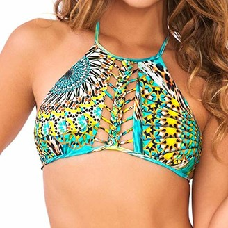 Luli Fama Women's Moon Princess Strings to Braid Halter Bikini Top
