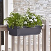 Crate & Barrel Zinc Rectangular Rail Planter and Rail Planter Hook