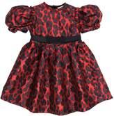Lanvin Petite Leopard Brocade Party Dress