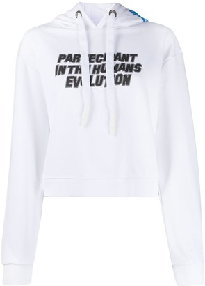 OMC graphic print cropped hoodie