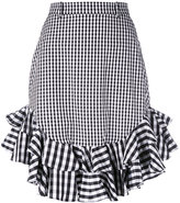 House of Holland gingham midi skirt - women - Cotton/Polyester - 14