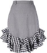 House of Holland gingham midi skirt - women - Polyester/Cotton - 6