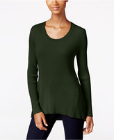 Style&Co. Style & Co. Ribbed Scoop-Neck Sweater, Only at Macy's