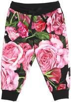 Dolce & Gabbana Roses Print Cotton Sweatpants