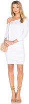 Monrow Off Shoulder Blouson Dress