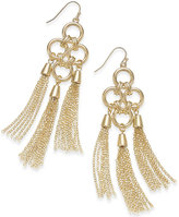 Thalia Sodi Gold-Tone Chain Link Fringe Chandelier Earrings, Only at Macy's