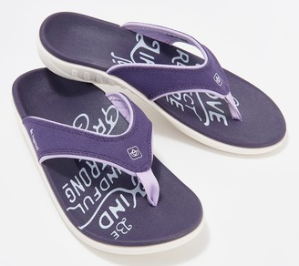 Spenco Orthotic Thong Sandals - Yumi Inspire