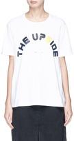 The Upside 'White Swing' logo print T-shirt