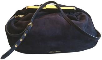 Miu Miu Navy Suede Handbags