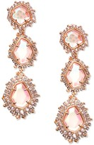 Kendra Scott Aria 14K Rose Gold Plated Clip-On Drop Earrings