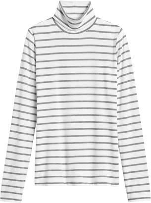 Banana Republic Petite Threadsoft Turtleneck T-Shirt