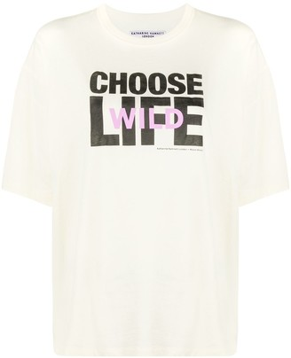 Wood Wood x Katharine Hamnett Choose Life T-shirt