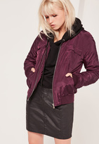Missguided Utility Bomber Jacket Purple