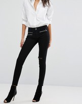 DL1961 Jessica Alba X DL No.3 Instasculpt Skinny Jean with Extended Zip Detail