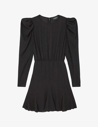 The Kooples Puffed-sleeve crepe dress