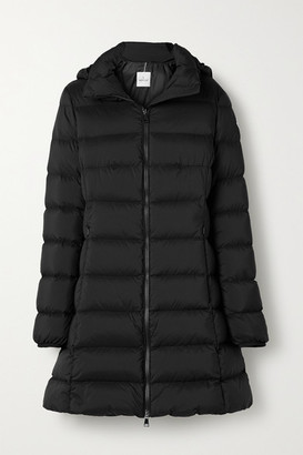 Moncler Gie Hooded Quilted Shell Down Jacket - Black