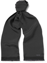 Tom Ford Polka-dot Silk Scarf - Black