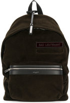 Saint Laurent corduroy Bad Lieutenant City backpack