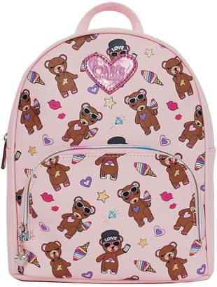 Omg! Accessories Stuffed Bear Print Backpack