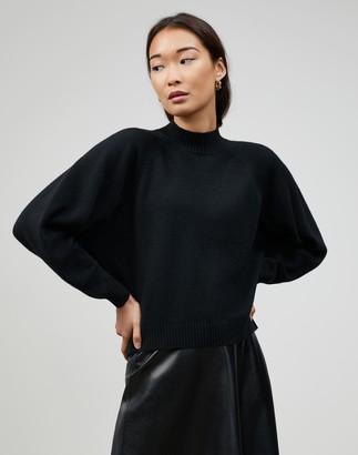 Lafayette 148 New York Plus-Size Cashmere Round Sleeve Crewneck Sweater
