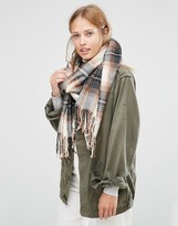 Pieces Woven Check Scarf