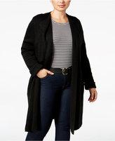 NY Collection Plus Size Jacquard-Knit Sweater Jacket