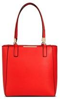 Miztique Women's Faux Leather Structured Tote Handbag with Zipper Top