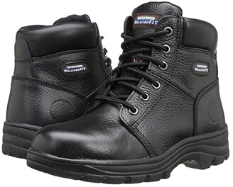Skechers Workshire - Peril (Black) Women's Lace-up Boots
