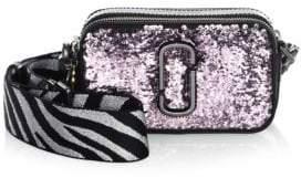 Marc Jacobs Snapshot Gunmetal Leather Crossbody Bag