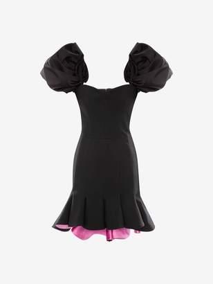 Alexander McQueen Light Wool Silk Evening Dress