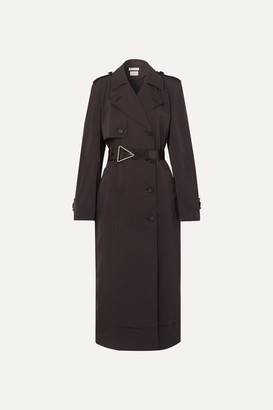 Bottega Veneta Belted Double-breasted Shell Trench Coat - Brown