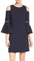 Eliza J Petite Women's Lace Applique Crepe Cold Shoulder Dress