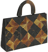 Global Elements Diamond Faced Horn Handbag