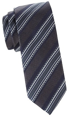 Canali Textured Silk Stripe Tie
